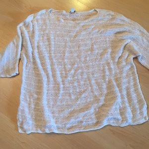 JJill open knit sweater